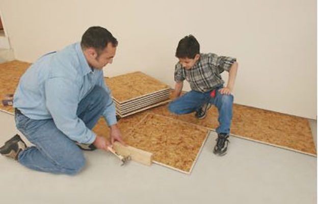 Learn How to install a Floating Subfloor.