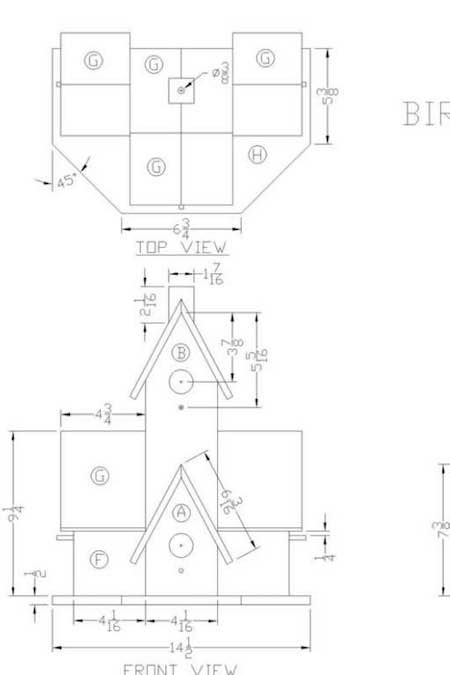 Free plans to build a Birdhouse Lamp.