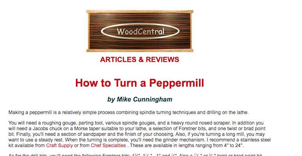 How to turn a Peppermill.