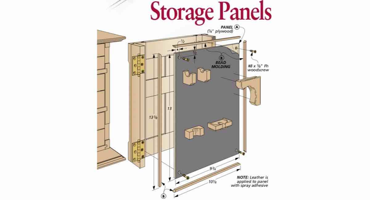 Custom Storage Panels PDF free woodworking plans