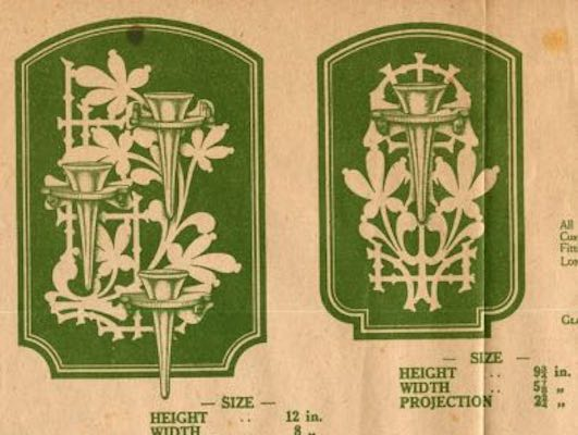 Free plans to scroll Wall Mounted Vases PDF.