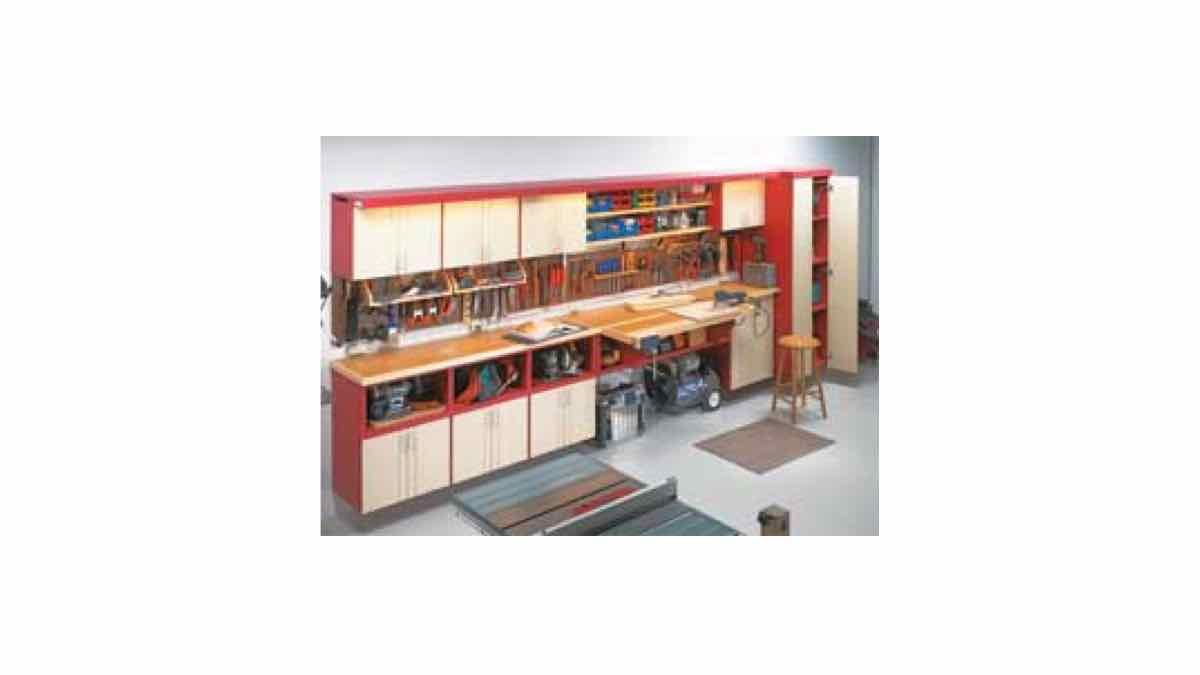 garage storage,workshop cabinets,free woodworking plans,projects,Readers Digest