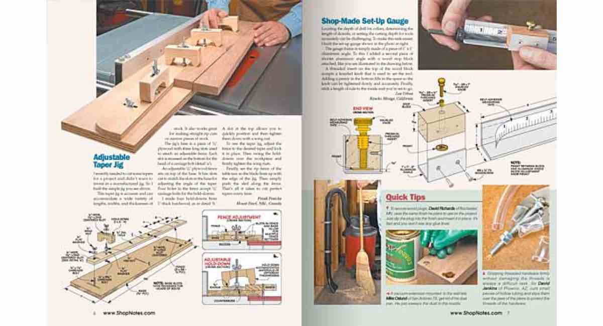 How to build a Adjustable Tapering Jig