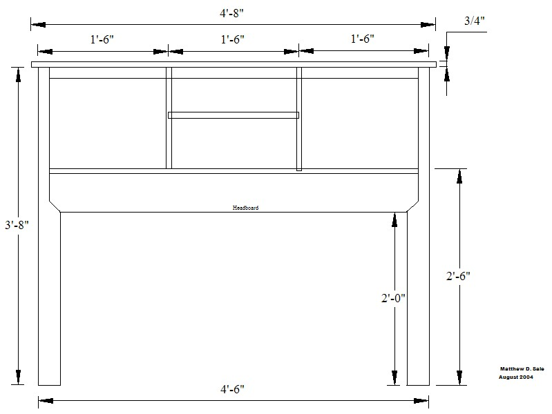 How to build a Headboard Bookcase style free project.