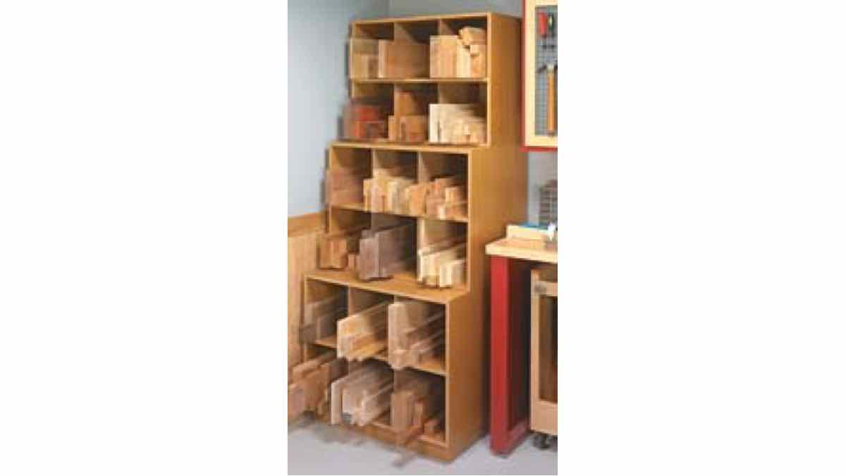 free woodworking plans, projects, storage, lumber storage