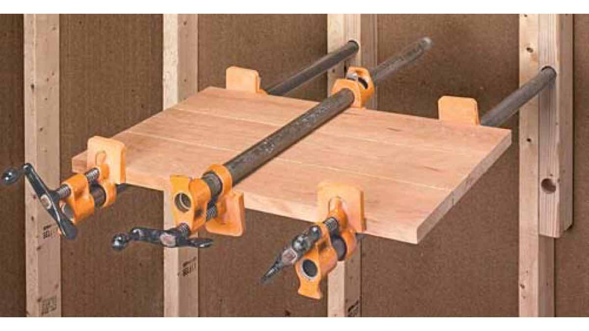 free woodworking plans, projects, clamps, clamping racks