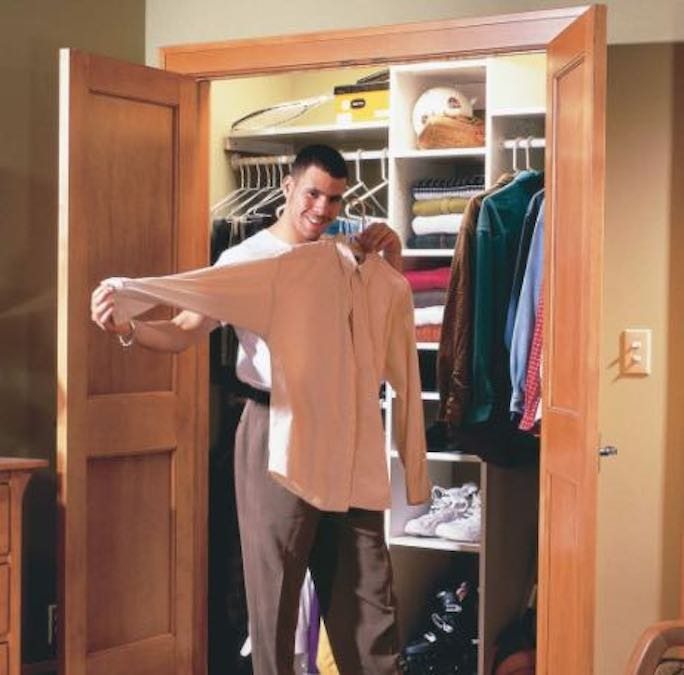 Learn how to Build a Closet using free plans.