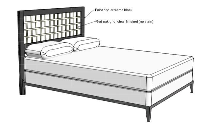 How to build a Lattice Headboard free project.