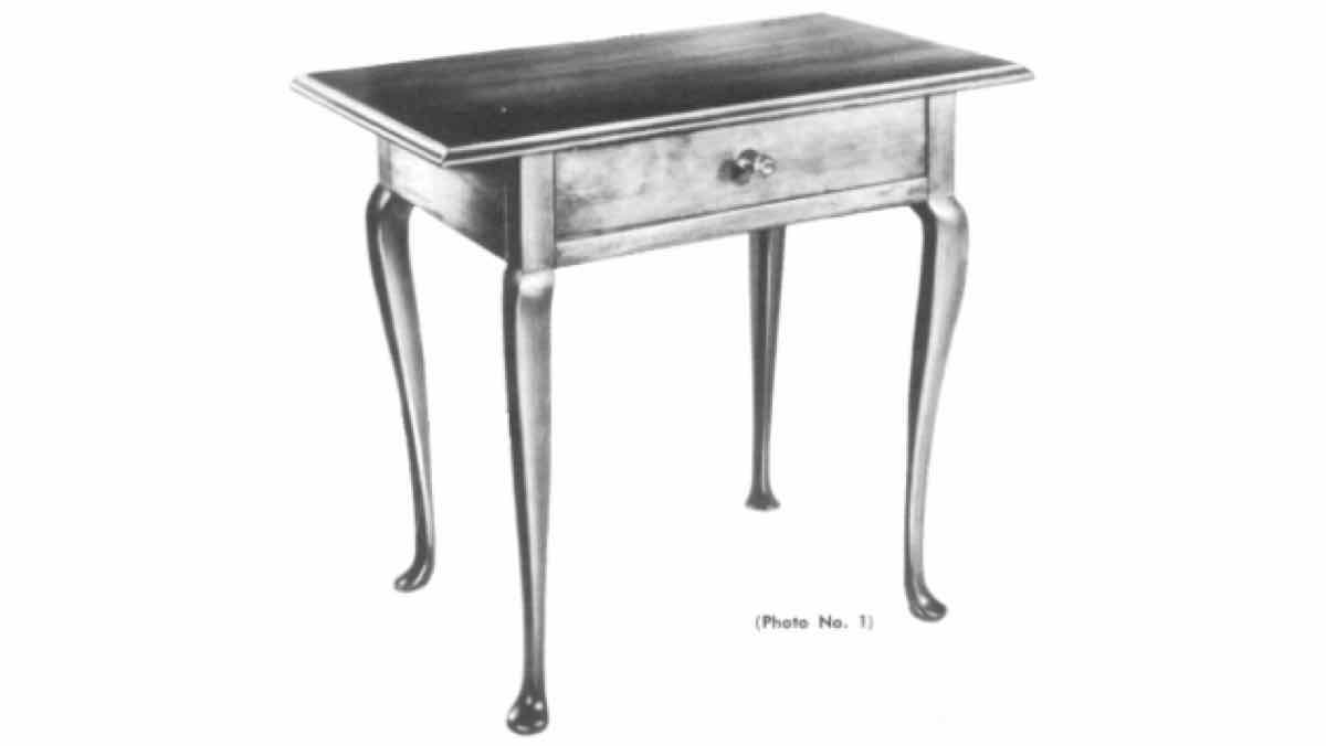 tables, furniture, handcrafted, queen-anne style, antiques, free woodworking plans, projects