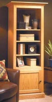 Build a Beautiful Display Cabinet using free plans.