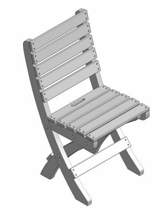 Free plans to build a Folding Chair.