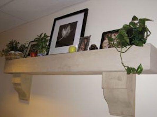 Build a Mantle Shelf using free plans.