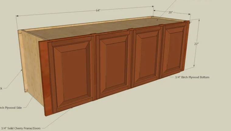 Build a wall mounted Bathroom Cabinet for storage.