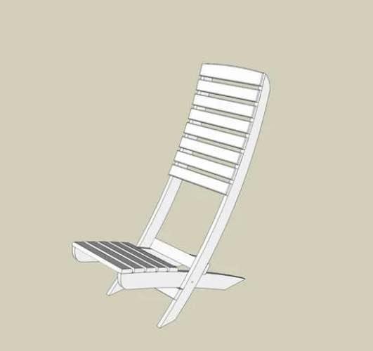 Build A 2 Board Beach Chair.