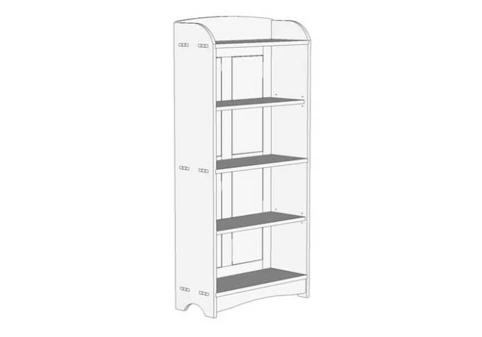 Free plans to build a Craftsman Bookcase.