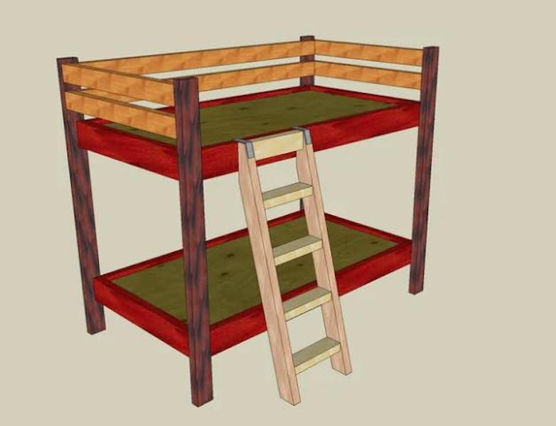 Free plans to build Bunk Beds.
