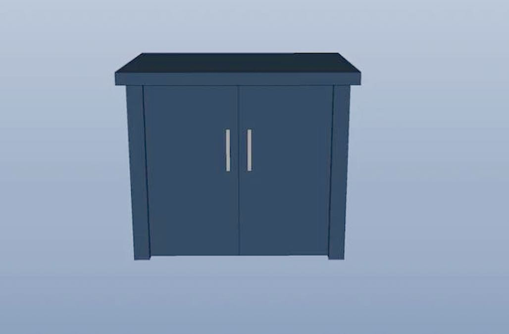 Free plans to build a Small Cabinet.