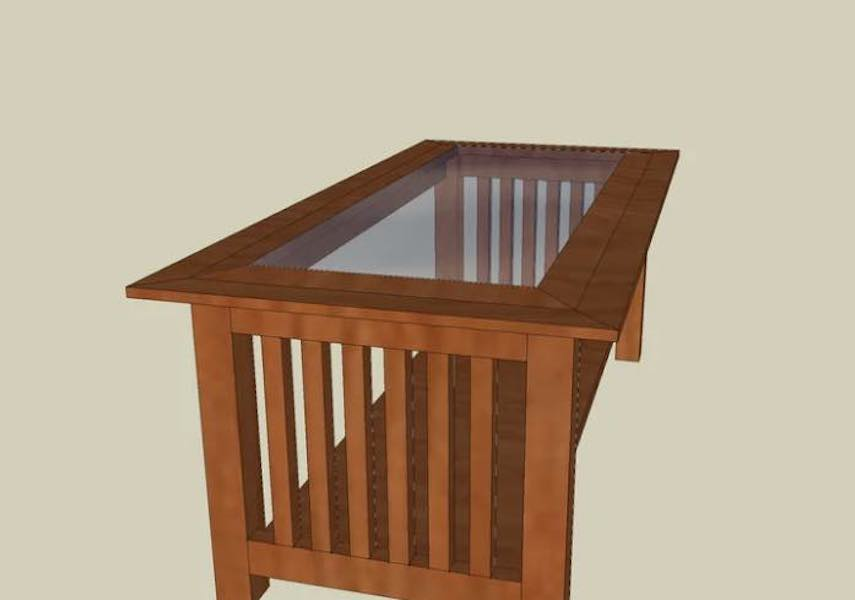 Build a Craftsman Coffee Table using free plans.