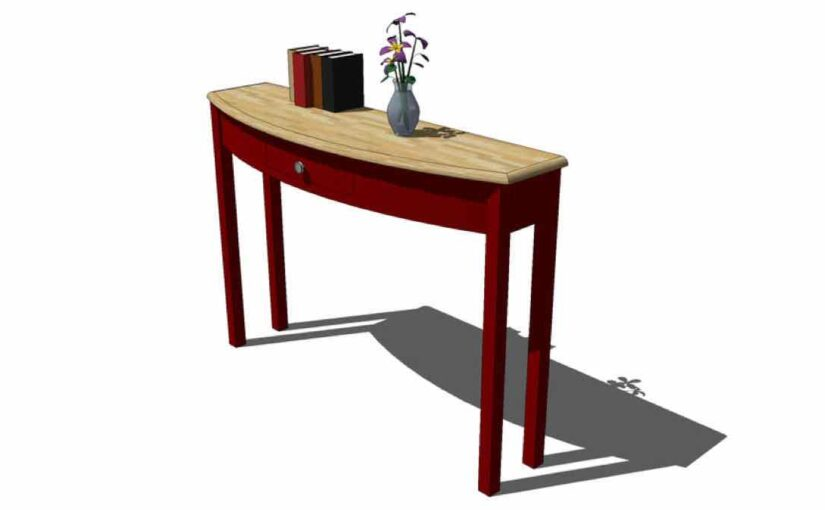 Curved Front Table