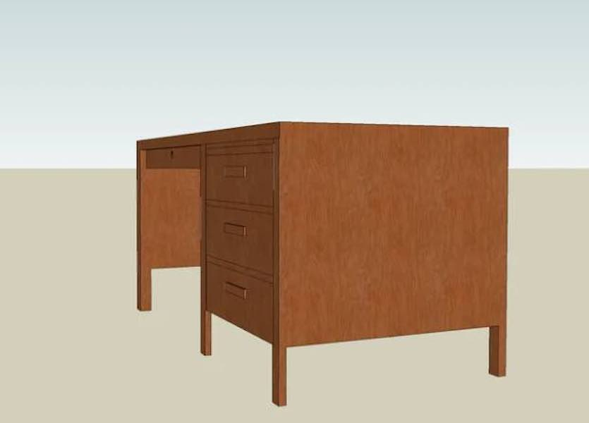 Build a Basic Desk using free plans.