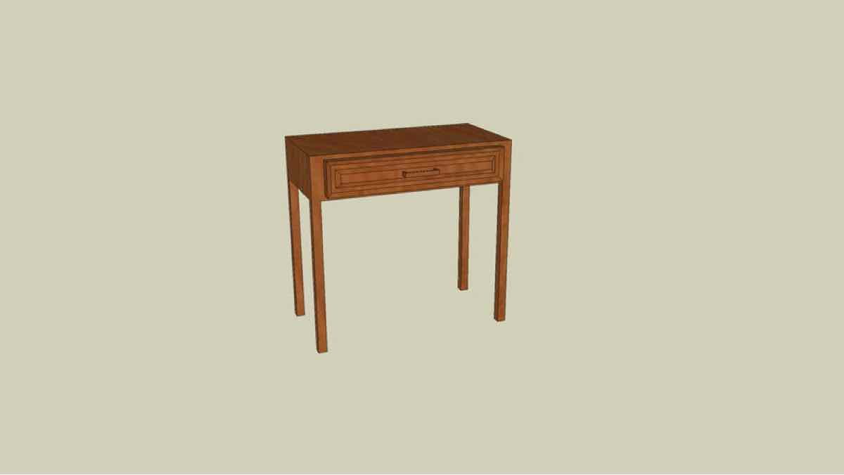 desks,tables,wooden furniture,drawers,free woodworking plans,projects, sketchUp