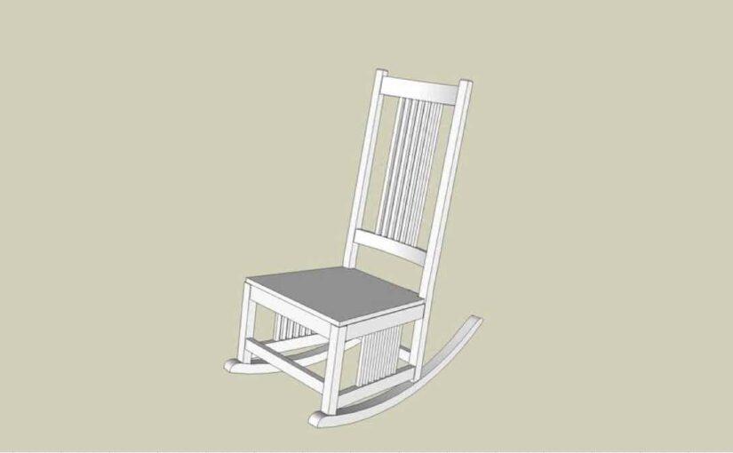 Rocking Chair SketchUp Drawing