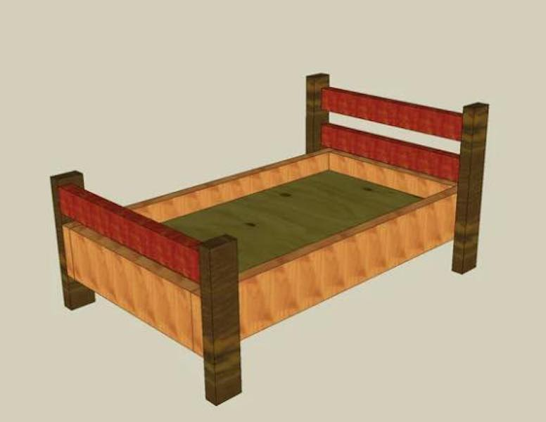 Build a Basic Toddlers Bed using free plans.