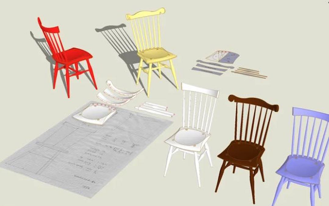 Free plans to build a Windsor Chair.