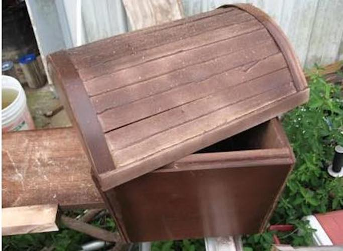 Build a simple treasure chest using free plans.