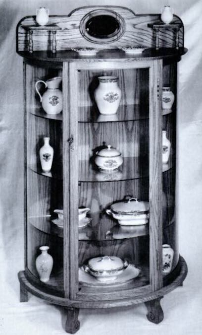 Free plans to build a Bow Front China Cabinet.
