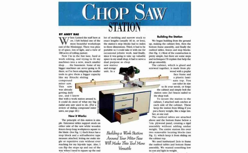 How to make a Ultimate Chop Saw Station free woodworking plans.
