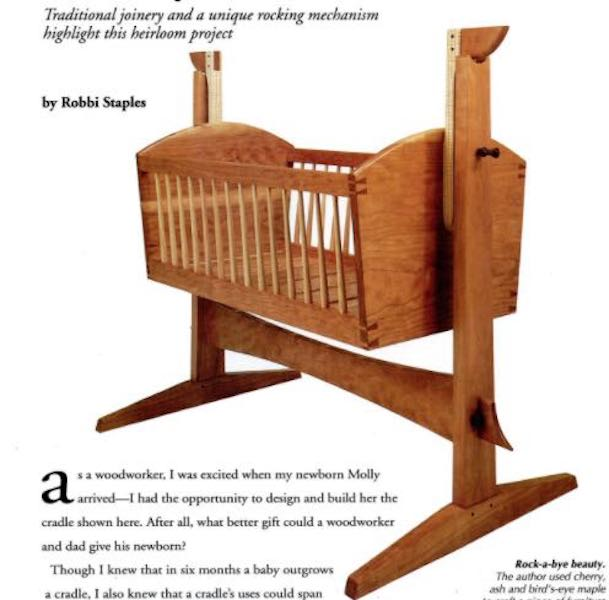 Build a Traditional Cradle using free plans.