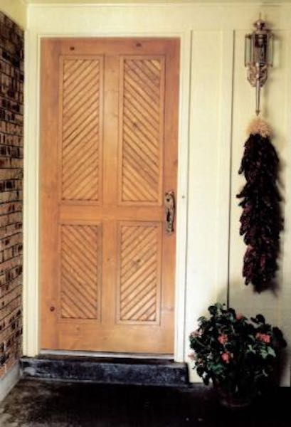 Build your own Entry Door using free plans.