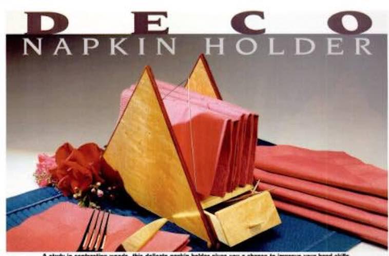 Free plans to build a Deco Napkin Holder.