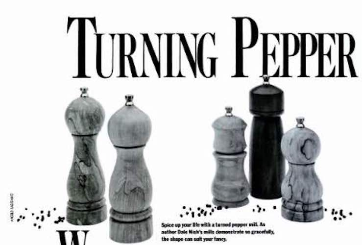 Free plans for Peppermill Turning.