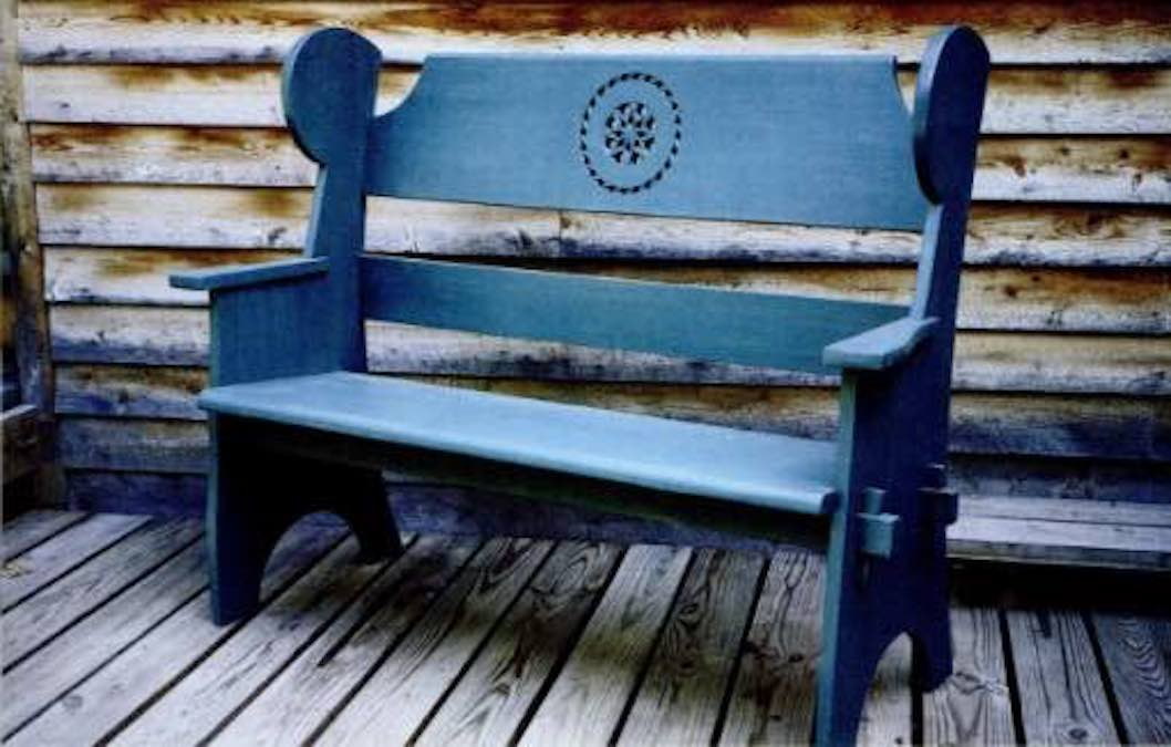 Free plans to build your own Porch Bench.