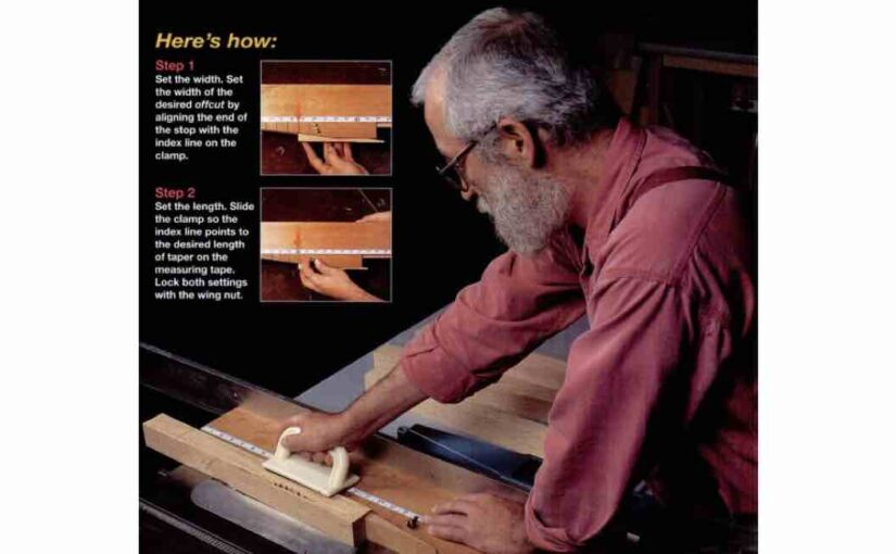 Tapering Tablesaw Jig