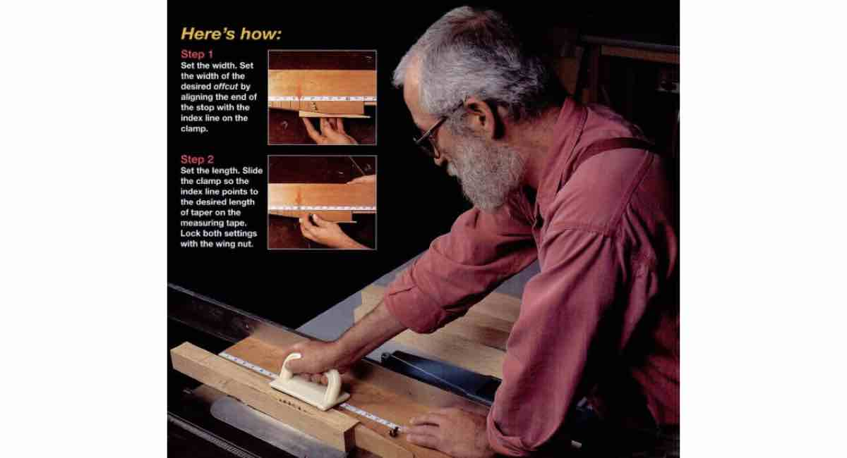 How to build a Tapering Tablesaw Jig