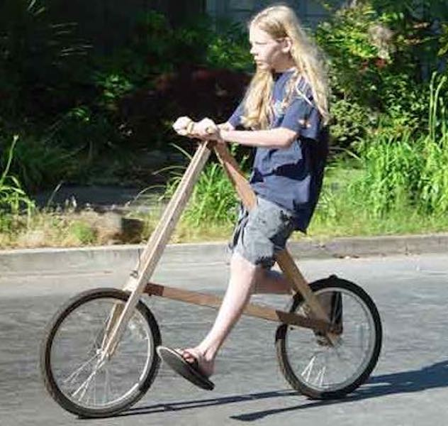Free plans to build a Wooden Bike.