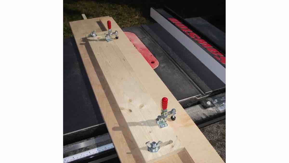 How to build a Table Saw Jointer Jig