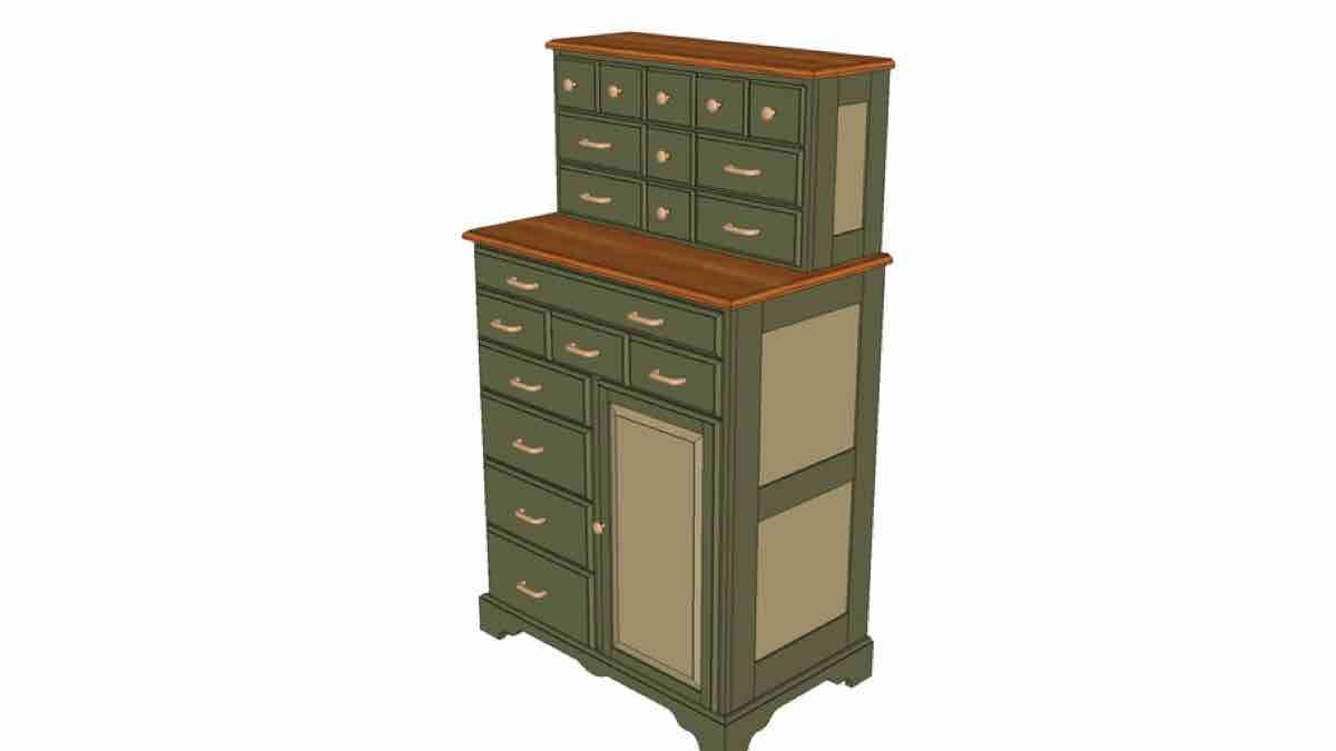 Stepped Tool Cabinet SketchUp