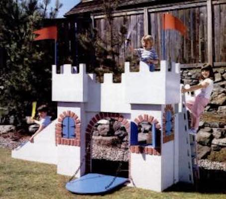 Build a Castle Playhouse from Plywood.