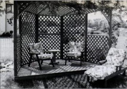 Free plans to build a Gazebo with a Deck.