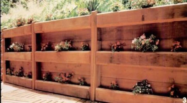 Build your own Planter Fences and Pergolas using free plans.
