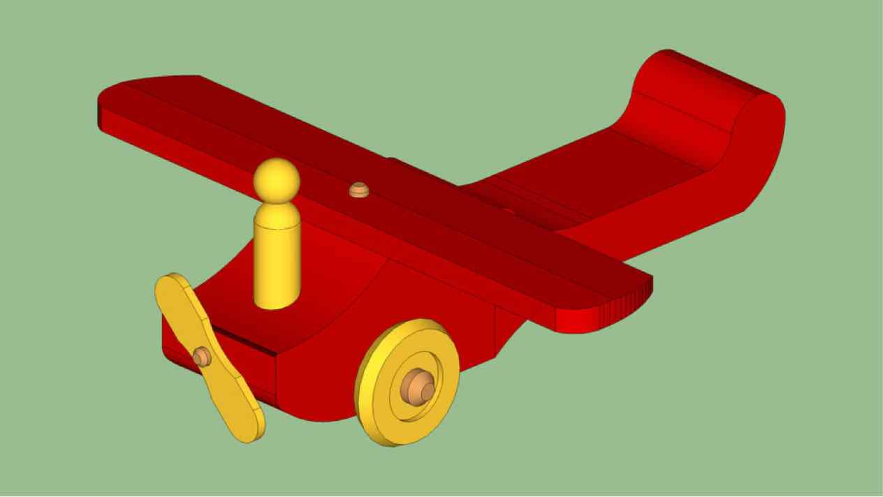 toys,airplanes,sketchup,Google 3D,3-D warehouse,childrens,childs,kids,drawings,free woodworking plans,projects,do it yourself,woodworkers