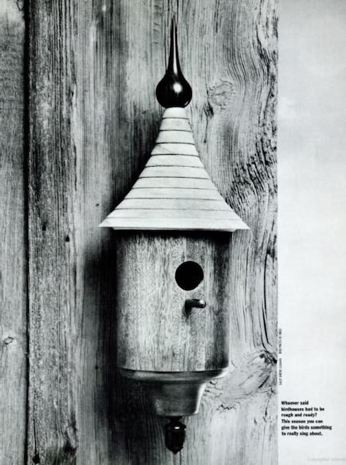 Get your lathe out to build a Turned Birdhouse.