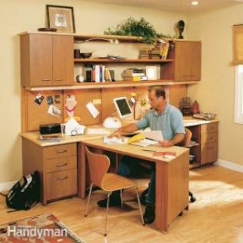 Build your own Home Office using free plans.