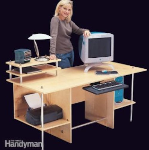 Build a Modern Computer Desk using free plans.