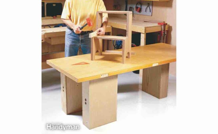 4 Knockdown Workbenches free projects