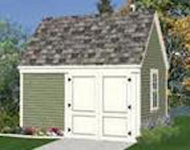 Garden Tool and Lawn Tractor Storage Shed